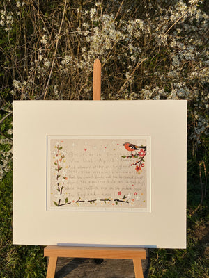 Studio Print | Home Thoughts from Abroad by Robert Browning | Lucy Loveheart