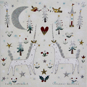 Christmas Card | Pack of 6 - Christmas Unicorns | Lucy Loveheart