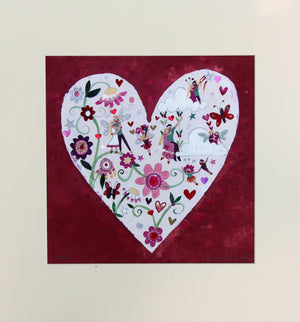 Original Painting | Lovers Heart | Lucy Loveheart