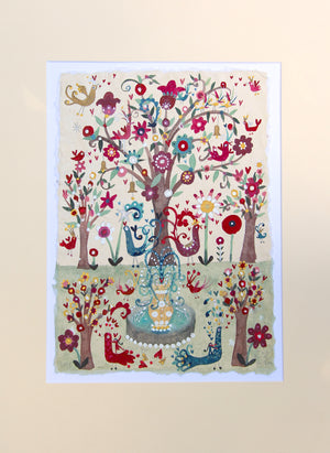 Original Painting | The Bird Garden | Lucy Loveheart