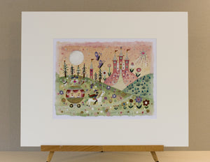 Original Painting | Journey to the Enchanted Palace | Lucy Loveheart