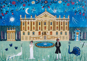 Greetings Card | Large Single | Pride and Prejudice | Chatsworth House | Lucy Loveheart