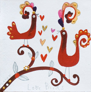 Studio Print - Box Framed | Love Birds | Lucy Loveheart