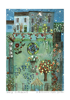 Art Prints | A Midsummer Nights Garden | Lucy Loveheart