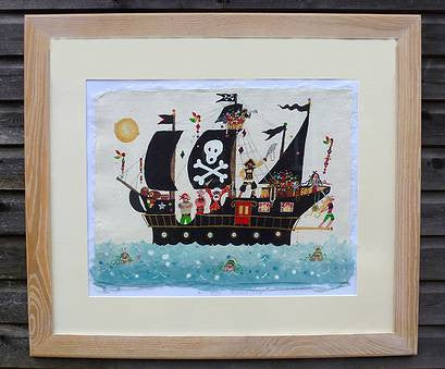 Painting | A Real Pirate Ship | Lucy Loveheart
