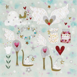 Christmas Card | Pack of 6 - Angel Kit | Lucy Loveheart