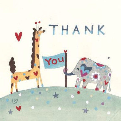 Greetings Cards | Animal Thank You | Lucy Loveheart
