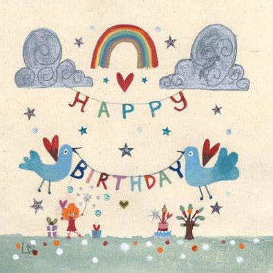 Greetings Cards | Birthday Bunting | Lucy Loveheart