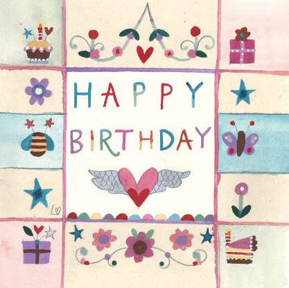 Greetings Cards | Birthday Panel | Lucy Loveheart