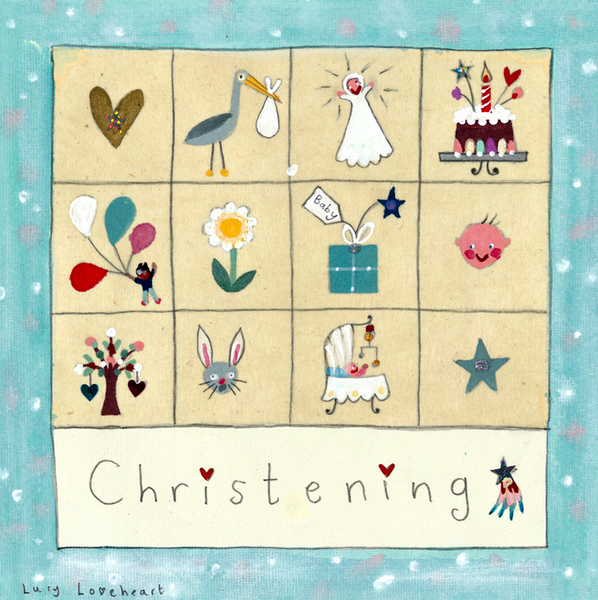 Greetings Cards | Christening Panel | Lucy Loveheart