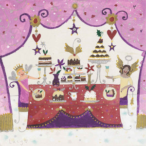 Christmas Card | Pack of 6 - Christmas Cakes | Lucy Loveheart