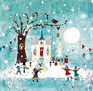Christmas Card | Pack of 6 - Christmas Cottage | Lucy Loveheart