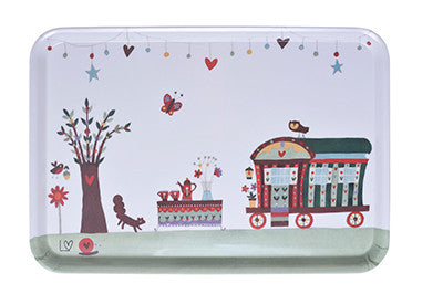 Tray | Country Folk Large - Caravan of Love | Lucy Loveheart