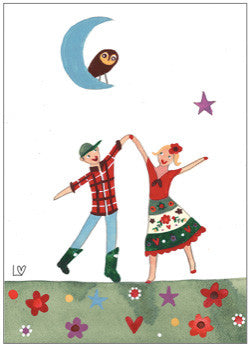 Greetings Cards | Country Folk - Country Dancing | Lucy Loveheart