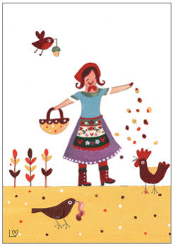 Greetings Cards | Country Folk - Early Birds | Lucy Loveheart