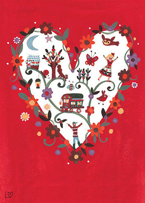 Notebook | Country Folk A5 - Folk Heart | Lucy Loveheart