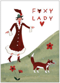 Greetings Cards | Country Folk - Foxy Lady | Lucy Loveheart