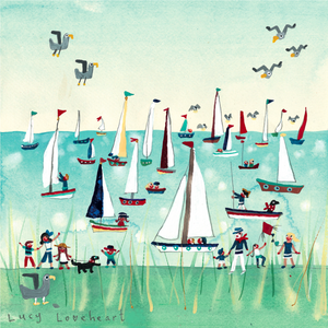 Art Prints | Pleasure Boats Mini | Lucy Loveheart