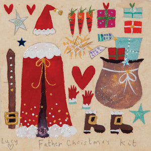 Christmas Card | Pack of 6 - Father Christmas Kit | Lucy Loveheart