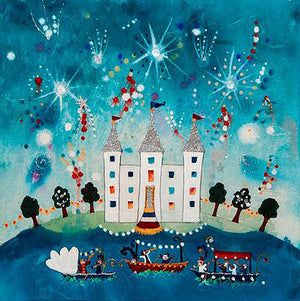 Greetings Cards | Fireworks At The Palace | Lucy Loveheart
