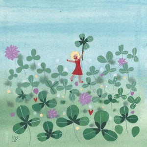 Greetings Cards | Four-Leafed Clover | Lucy Loveheart
