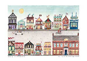 Art Prints | Great British High Street | Lucy Loveheart