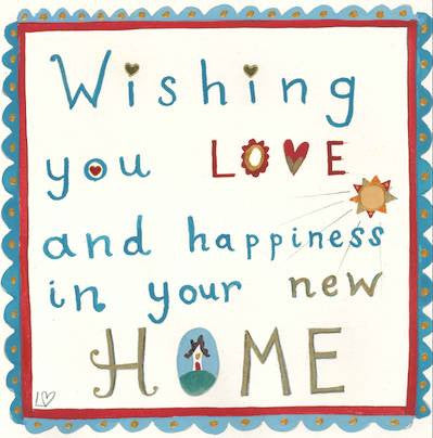Card happy home lucy loveheart for Lovers home