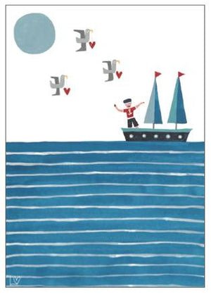Greetings Cards | Kiss Me Quick - Dream Boat | Lucy Loveheart
