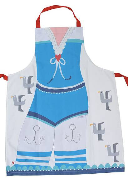 Apron | Kiss Me Quick - Sailor Girl | Lucy Loveheart
