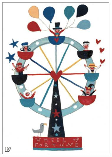 Greetings Cards | Kiss Me Quick - Wheel of Fortune | Lucy Loveheart