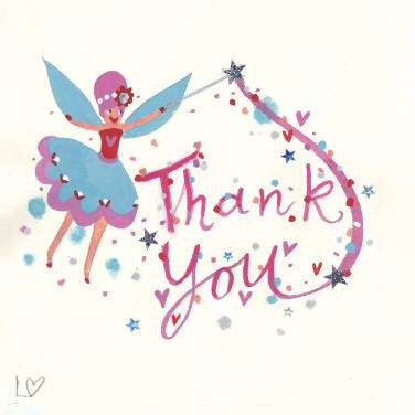 Greetings card thank you thank you lucy loveheart greetings cards magical thank you lucy loveheart m4hsunfo