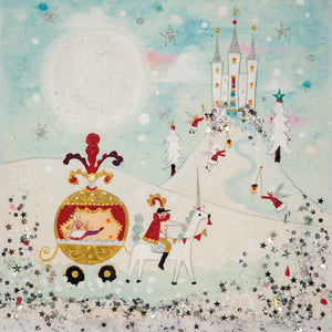 Christmas Card | Pack of 6 - Riding Home For Christmas | Lucy Loveheart