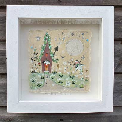 Painting | Snowdrop Cottage | Lucy Loveheart