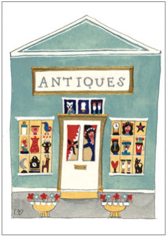 Greetings Cards | Great British High St - The Antique Shop | Lucy Loveheart