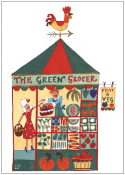 Greetings Cards | Great British High St - The Greengrocer | Lucy Loveheart