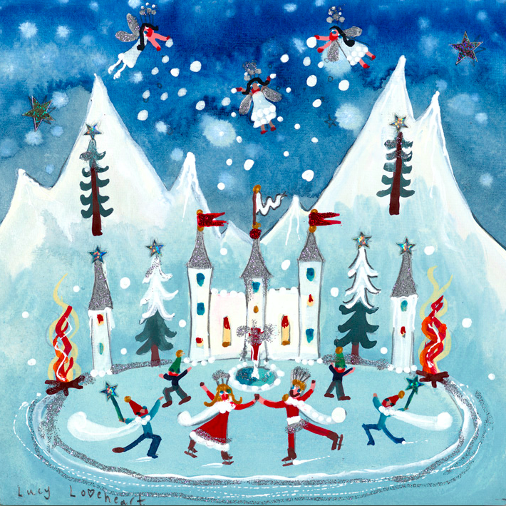 Christmas Card | Pack of 6 - Winter Palace | Lucy Loveheart