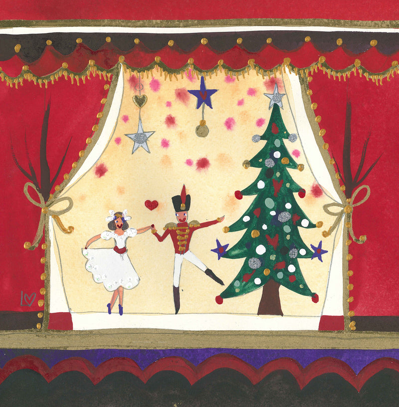 Card | Christmas Pack of 6 - The Nutcracker Suite | Lucy Loveheart