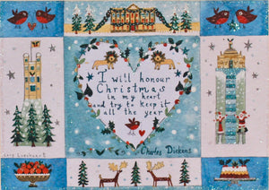 Christmas Card | Pack of 5 - Christmas In My Heart | Lucy Loveheart
