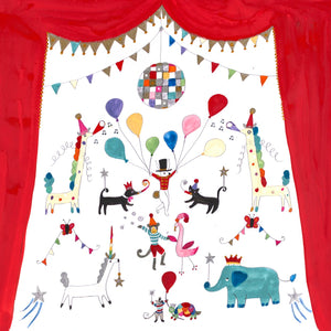 Art Print in a Tube | Party Animals | Lucy Loveheart