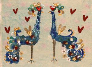 Original Painting | Peacocks in Love