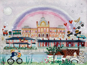 Riverside Rainbow | Limited Edition Studio Print in a Tube | Norwich | Lucy Loveheart