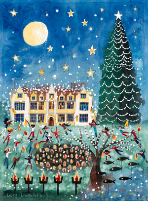 Original Painting | The Tallest Christmas Tree in England | Wakehurst | Lucy Loveheart
