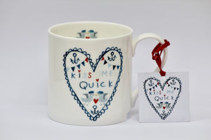 Mug | Kiss Me Quick - Kiss Me Quick Heart | Lucy Loveheart