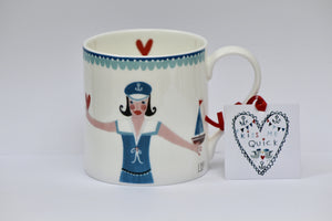 Mug | Kiss Me Quick - Sailor Girl | Lucy Loveheart