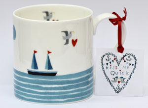 Mug | Kiss Me Quick - Dream Boat | Lucy Loveheart