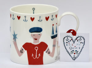 Mug | Kiss Me Quick - Sailor Boy | Lucy Loveheart
