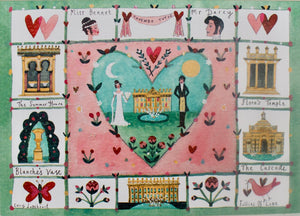 Greetings Card | Pack of 5 - Follies of Love | Chatsworth House | Lucy Loveheart