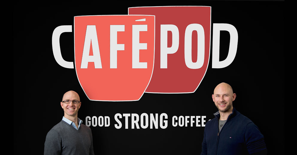 CaféPod founders Brent Hadfield & Peter Grainger