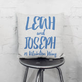 Personalised Couples Names Cushion