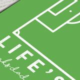 Personalised Football Pitch Print